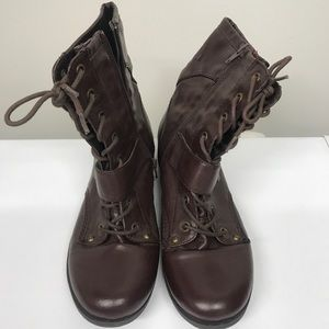 Guess Brown Combat Boots